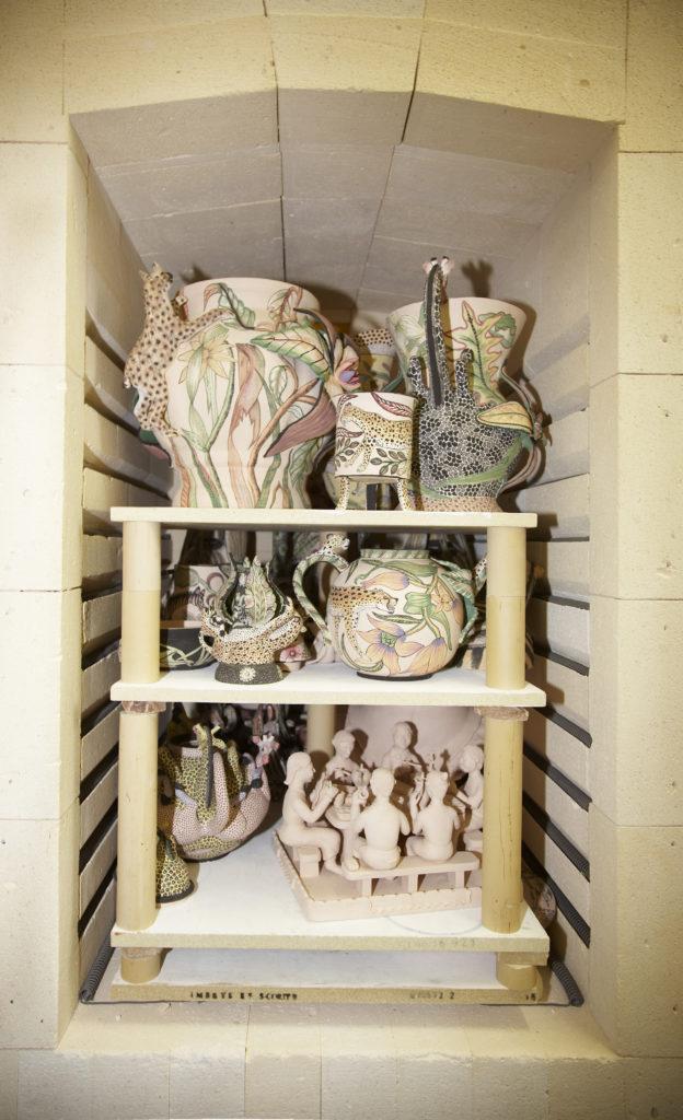 KwaZulu-Natal Midlands: Ceramics in a kiln at the Ardmore Ceramics studio