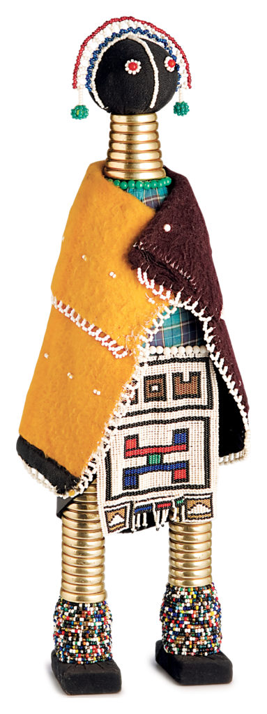 Beaded dolls made by the Ndebele people