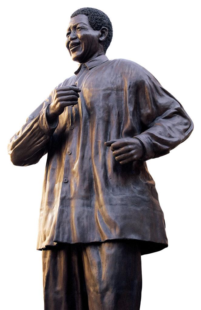 Johannesburg, Gauteng: Statue of Nelson Mandela in Nelson Mandela Square