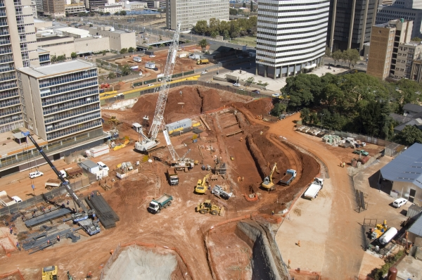 Johannesburg, Gauteng province: Construction in progress on Park Station