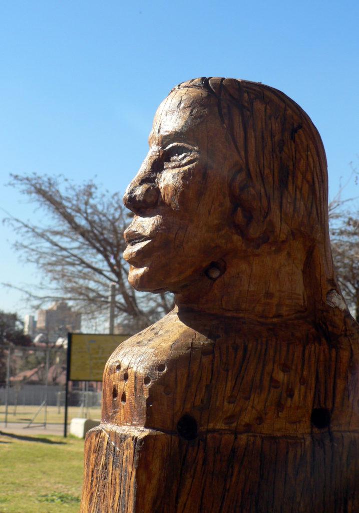 Johannesburg, Gauteng province: Public statues line roads and walkways in Newtown
