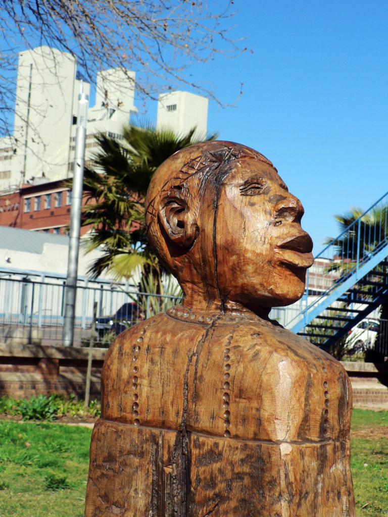Johannesburg, Gauteng: Public statues line roads and walkways in Newtown