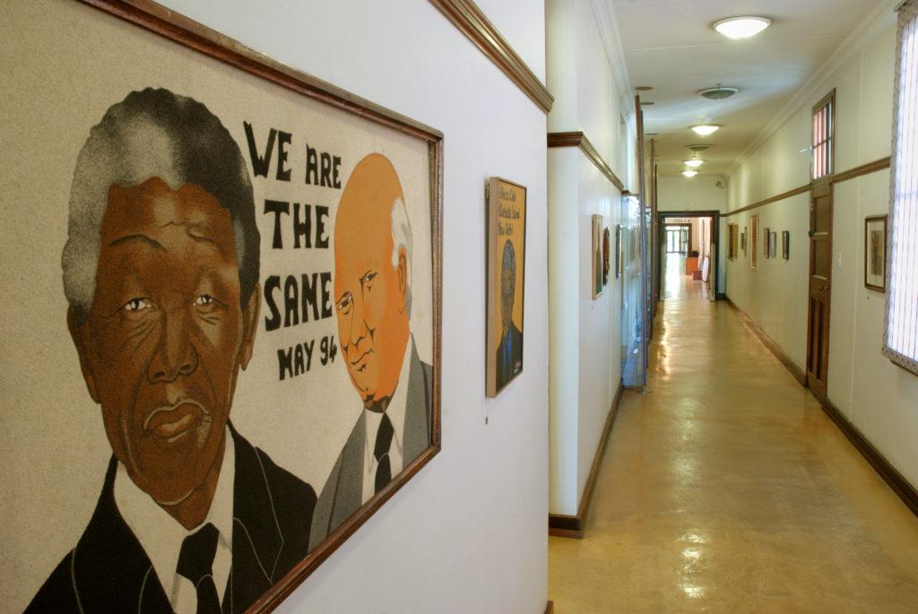 Qunu, Eastern Cape: Nelson Mandela and FW de Klerk at the Nelson Mandela Museum