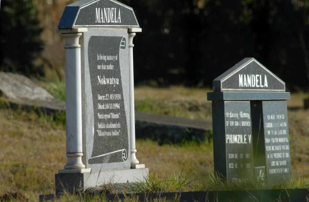 Qunu, Eastern Cape province: The Mandela family grave site