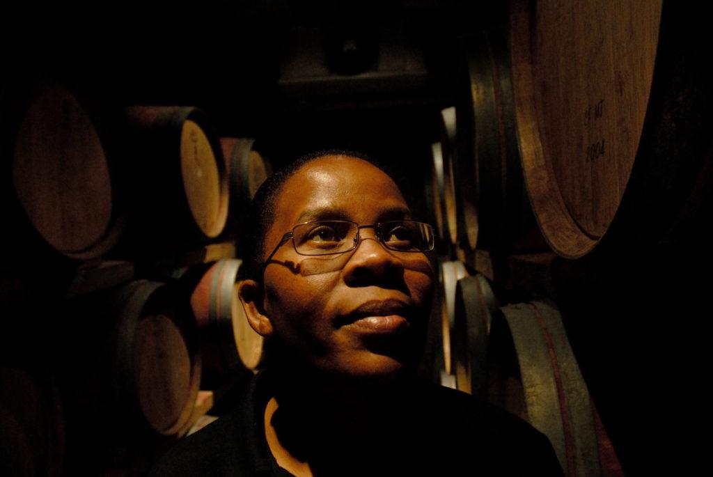 Stellenbosch, Western Cape province: Ntsiki Biyela, winemaker at Stellakaya cellar