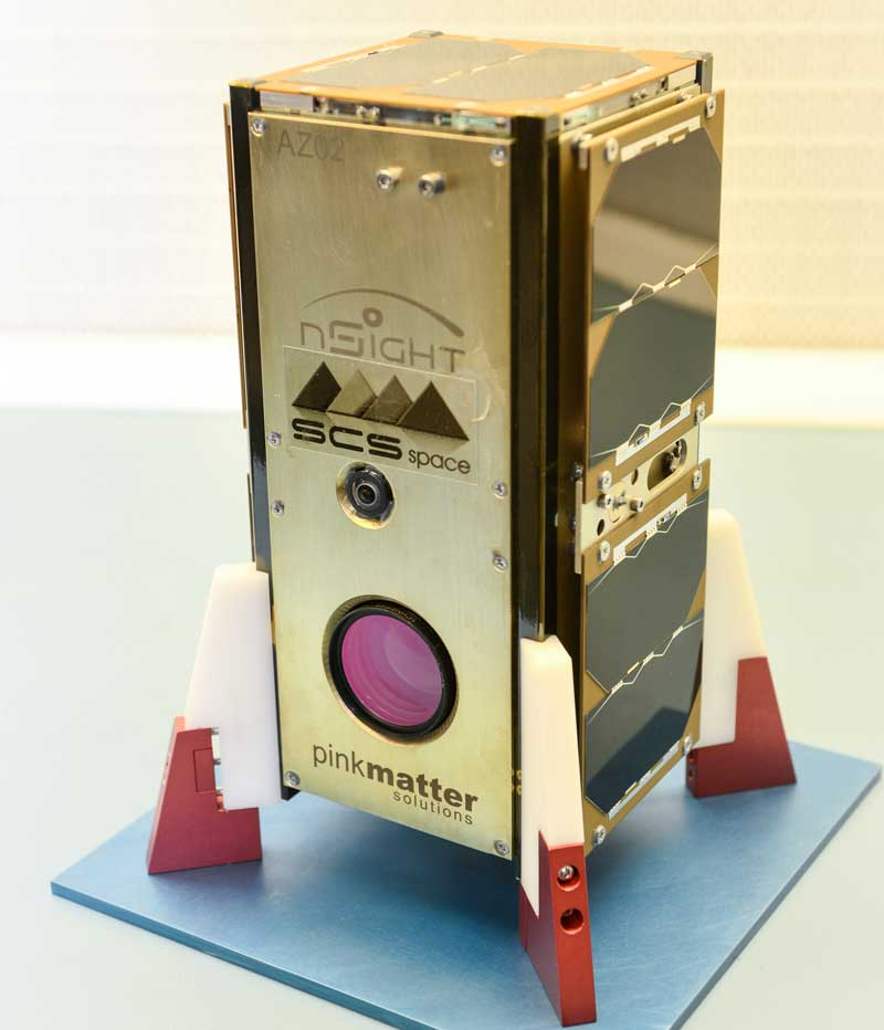 It took a team of South Africans six months to build the nanosatellite, nSight1. It launches with 49 other satellites from the International Space Station in early 2017 as part of the European Space Agency's QB50 project to study the Earth's upper atmosphere. (Image: SCS Aerospace Group)