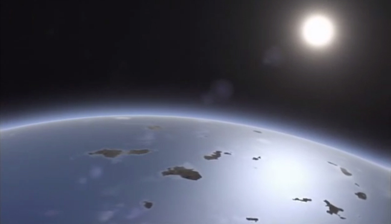 An artist's impression of the earth's surface billions of years ago.