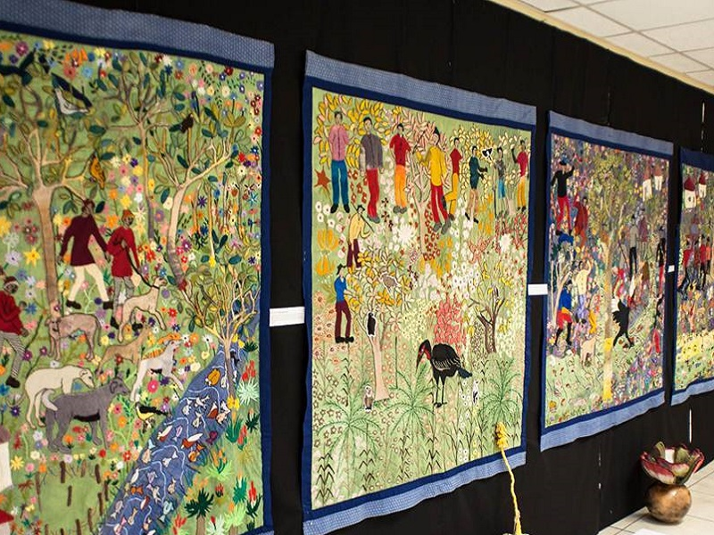These are intsikizi tapestries done by artists of the Keiskamma Art Project. (Image: The Keiskamma Trust, Facebook)