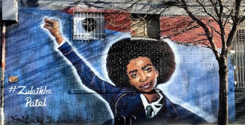 Zulaikha Patel, Lexi Bella, mural, Brooklyn New York, activism