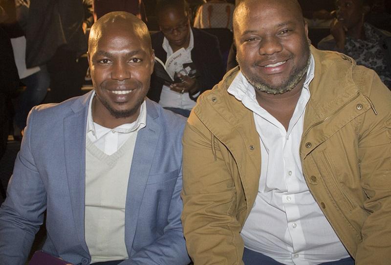 Xolani Mogale and Lucky Nkoma book celebration