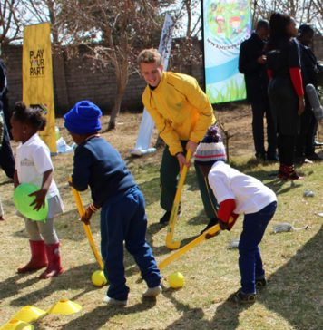 SA Men's Hockey Team player Mandela Day children's home