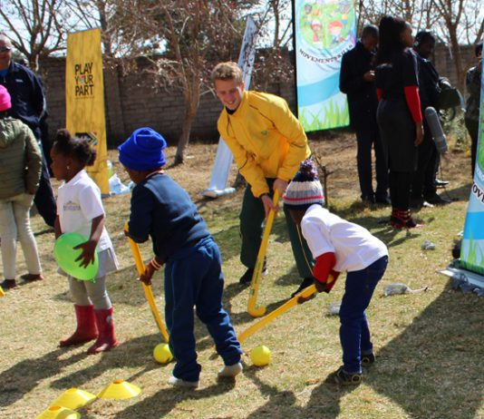 SA Men's Hockey Team player Mandela Day children's home