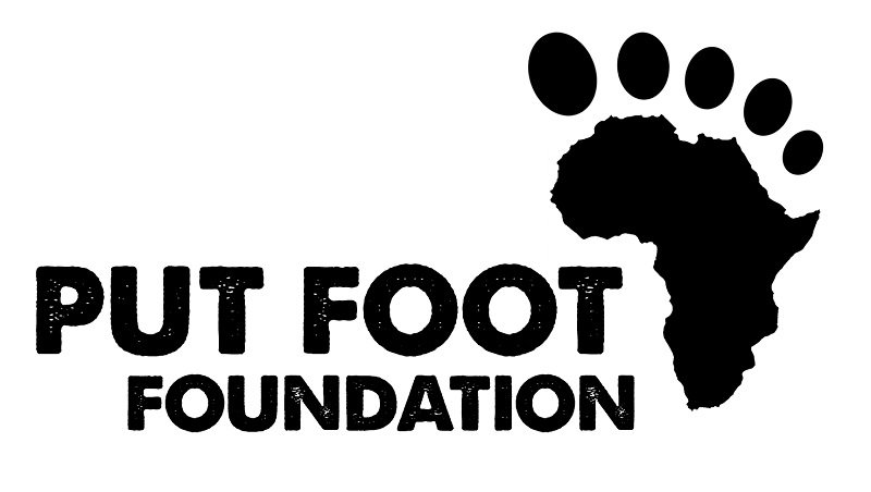 The Put Foot Foundation donates shoes to underprivileged children in South Africa and across Africa.