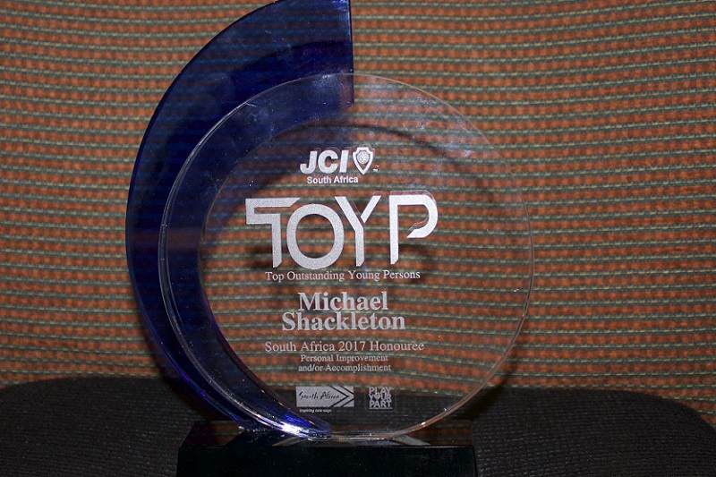 JCI South Africa 2017 Top Outstanding Young Persons Awards trophy
