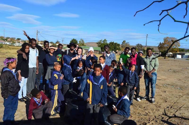 Rhodes University community service project team building