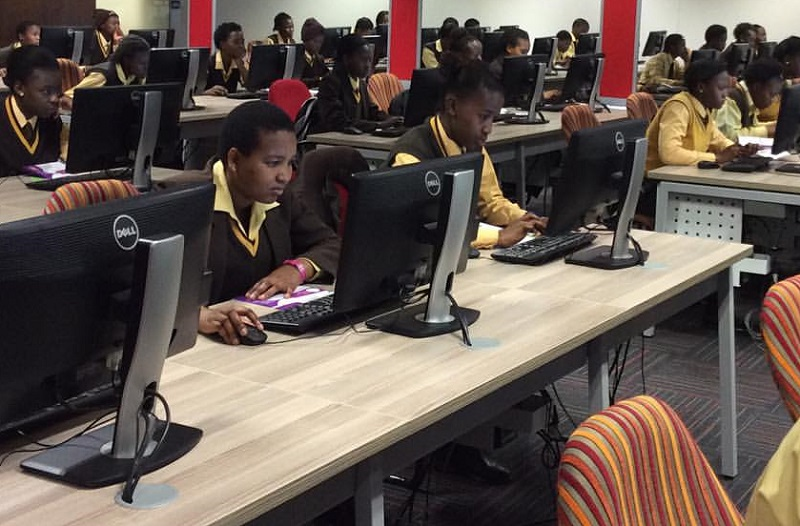women coding computer science Africa Teen Geeks