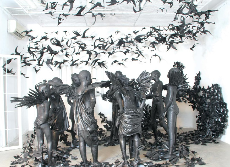 Peju Alatise is the 2017 winner of the FNB Art Prize and will exhibit at the Joburg Art Fair in September 2017.