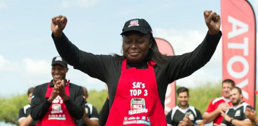 Queen Mathebula is South Africa's 2017 boerewors champion.