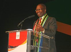 Keynote speaker Sibusiso Ndebele, Minister of Transport, is adamant that the World Cup will unite the nation.
