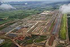An aerial view of King Shaka International Airport, taken in May 2009.