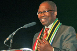 Minister of Transport Sibusiso Ndebele