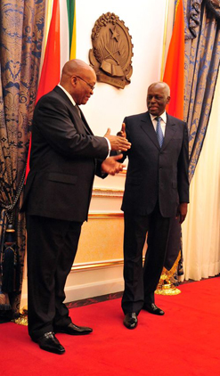 President Jacob Zuma (Left) and Angolan President Jose Eduardo Dos Santos have cemented ties between the two countries.