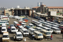 Minibus taxis are by far the most common form of public transport in South Africa