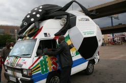 The Diski Striker vehicle is doing its bit to raise excitement for the upcoming 2010 Fifa World Cup