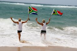 David Grier and fellow ultra-distance runner Braam Malherbe ran across the Southern African coastline in 2008