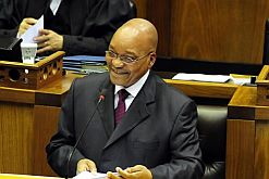 President Jacob Zuma addressing the nation from Parliament