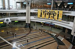 The spacious new central terminal building at OR  Tambo International Airport