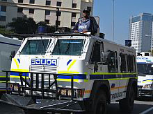 New SAPS vehicles were paraded in Sandton to show that South Africa's security agencies are prepared for the 2010 Fifa World Cup