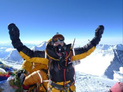 Mandy Ramdsen at the top of the world