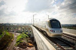 The Gautrain will operate between key Johannesburg districts and OR Tambo International airport