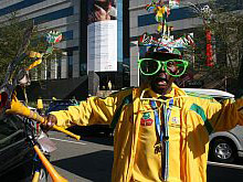 Saddam loves Bafana Bafana and his trusty Vuvuzela, which, he says, he invented