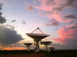 Dishes belonging to the KAT-7 array, which is now fully operational.