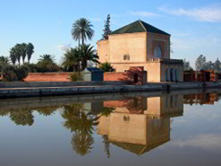 The tranquility of the Menara gardens in Marrakech. .