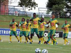 Aaron and the Bafana squad in training.