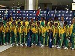 The Banyana Banyana squad participating in the championship.