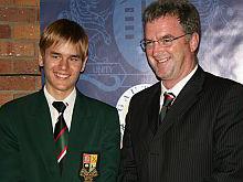 Alexander Johannes, Gauteng's top achiever, with former principal Tony Reeler.