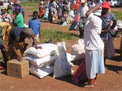 More than a quarter of the neighbouring country of Swaziland's population relies on food aid.