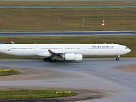 The Airbus A340-600 will be used by SAA for the long-haul flight to New York.