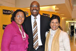 Brand SA CEO Miller Matola flanked by IMC Chairperson Anitha Soni(right) and Deputy Chairperson of the IMC Chichi Maponya(left)