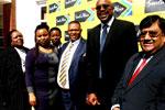 From left, Pinkie Nqeto, Belu Mdlalo, Lindiwe Ngcobo, MEC Norman Mokoena, Miller Matola and Paresh Pandya at the summit.