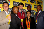 From left, Sybert Liebenberg and Vuyo Zitumane of the Eastern Cape Tourism Agency, Dr Garth Cambray, IMC trustee Neela Hoosain, Ben Nyaumwe and Iggy Sathekge at the Port Elizabeth stakeholder summit.