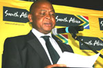 Limpopo Premier Cassel Mathale delivering the key note address at the summit.