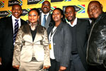 From left, Iggy Sathekge, Belu Mdlalo, Miller Matola, Lindiwe Ngcobo, Leo Makgamathe and Dimape Serenyane – all of the IMC.