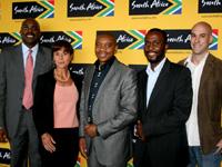 From left, Miller Matola, Libby Ferrandi, Iggy Sathekge, Leo Makgamathe and Barry Hiles (both from Brand SA