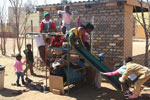 Children from the crèche at the home playing