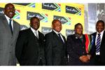 From left, Brand SA CEO Miller Matola; programme director Serobi Maja; Limpopo Premier Cassel Mathale; Brand SA trustee Mathipe Moganedi and Iggy Sathekge, Brand SA director for stakeholder relations, at the Polokwane Stakeholder Summit.